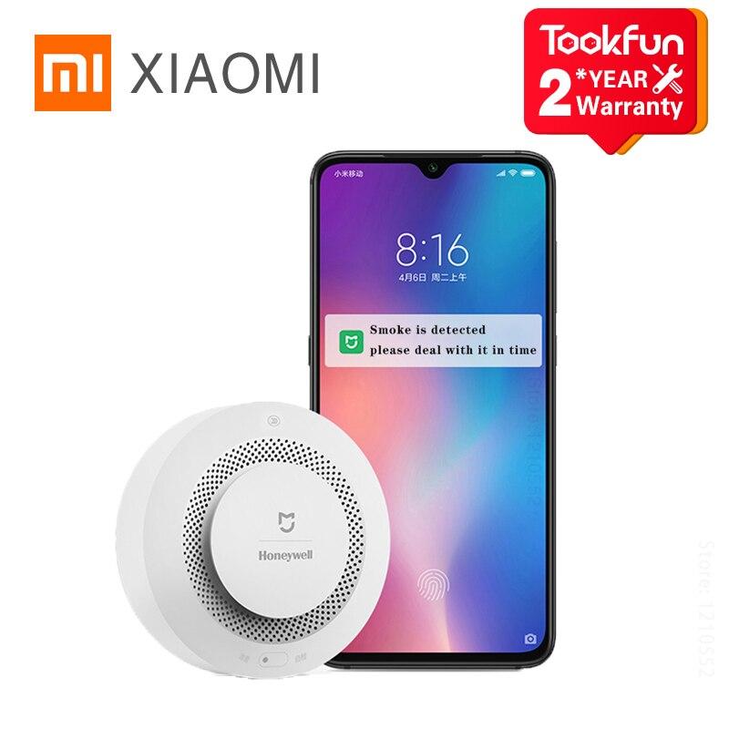 Датчик дыма Xiaomi Mijia Honeywell, датчик Пожарной Сигнализации Zigbee, смарт-шлюз, SMS-уведомления, напоминание о домашнем сигнале
