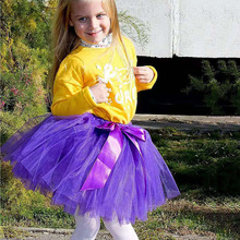 Tutu-Skirt Fluffy Elastic-Waist Princess Summer for Birthday 7-Layers 35cm Tulle Gift