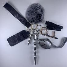 LLavero de seguridad para alarma para mujeres, anillo de autodefensa personal, juguete llavero de peluche, Arma de protección de seguridad