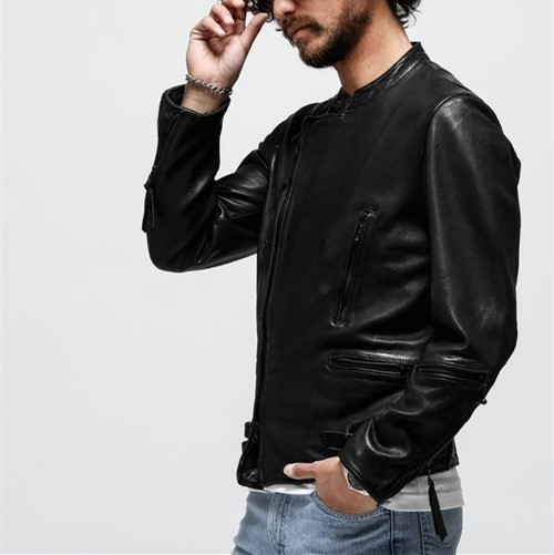 Free Shipping,Pakistani Thick Oil Wax Sheepskin Leather Garments,2020 Mens Fashin Style Leather Jacket.slim Top Quality Coat