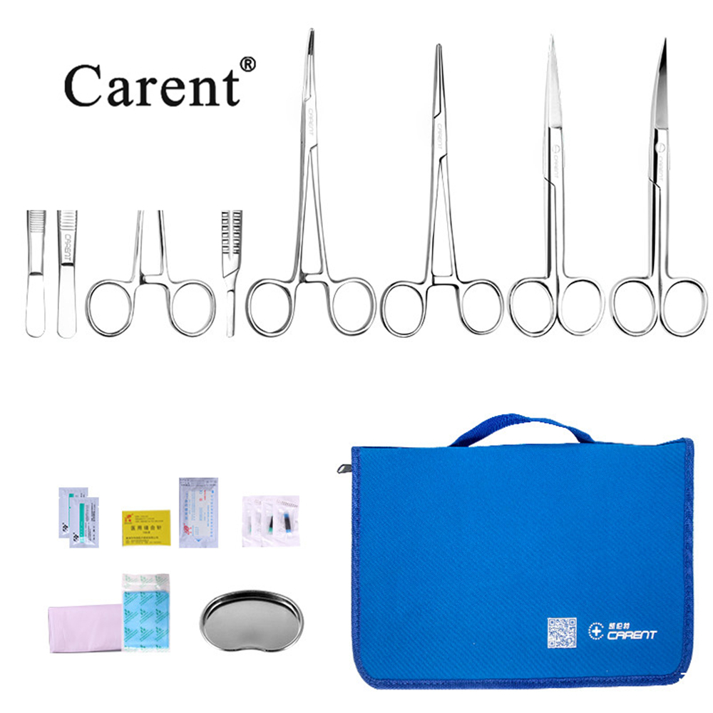Scalpel Medical Package Tool Kit Surgical Medical Student Suture Instrument Package Surgical Scissors Tweezers Blade First Aid