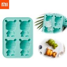 Sıcak Xiaomi Mitu buz kalıbı tavşan şekli buz küpü 4 küp buz kalıbı buz küpü kalıp saklama kapları Ice Cube tepsi kalıp