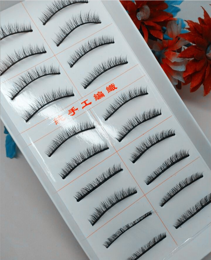 10 Pairs Brown Dolls With False Eyelashes Short Simulation Natural Curling Short Dolls Eyelashes Accessories Kids Gifts Kids Toy