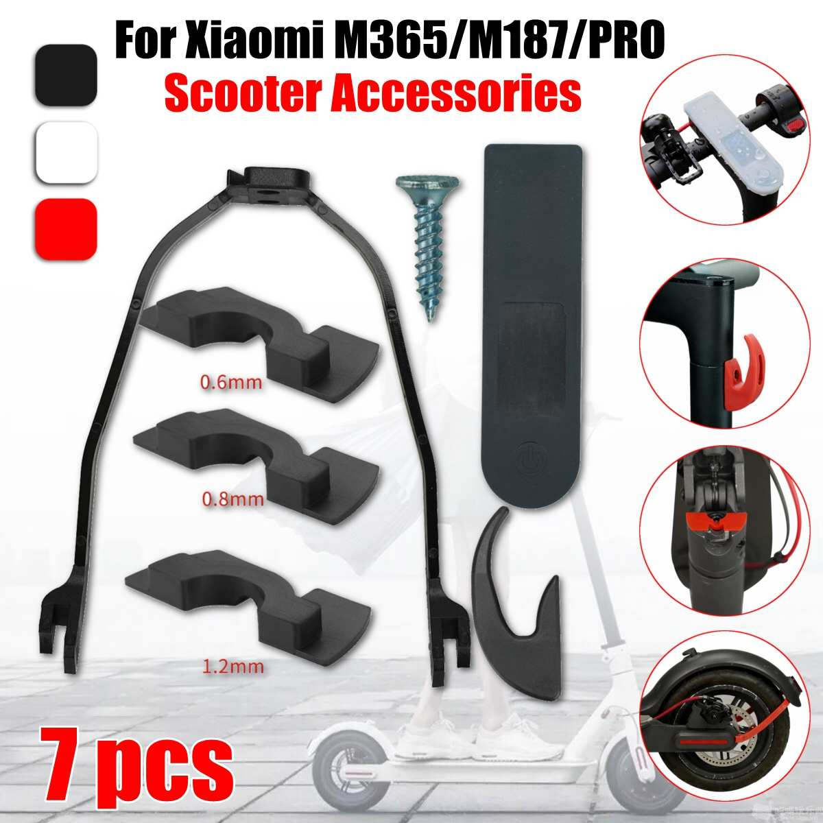 For Xiaomi M365 M187 Pro Scooter Dashboard Cover Fender Bracket With 3 Damping Wrench Accessories Kit