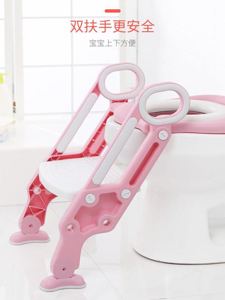 Kids Chamber Pot Pedestal Pan Female Baby Toilet Ti Yi Children Sit Washer Boy Staircase Style Foldable Anti-slip Rack