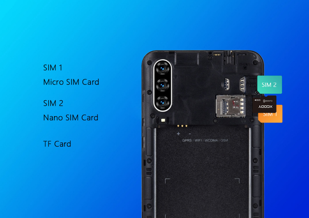 Xgody 3G teléfono móvil Note7 2GB 16GB Smartphone 6,26 21