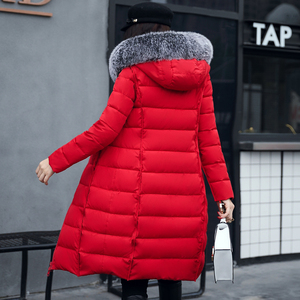 Image 4 - Com capuz ambos os lados usam casacos longos feminino 2020 casual grosso com pele de algodão acolchoado parkas inverno outwear oversize jaqueta feminina