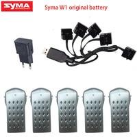 SYMA-Dron sin escobillas W1 pro, 7,6 V, 1300mAh/1800ma, GPS, brazo plegable, FPV, 1080P RC, accesorio de Quadcopter, cargador de cable