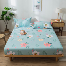 Bed-Sheet Non-Slip-Bed Cotton for Mattress-Protective-Cover Fitted Soft Comfortable