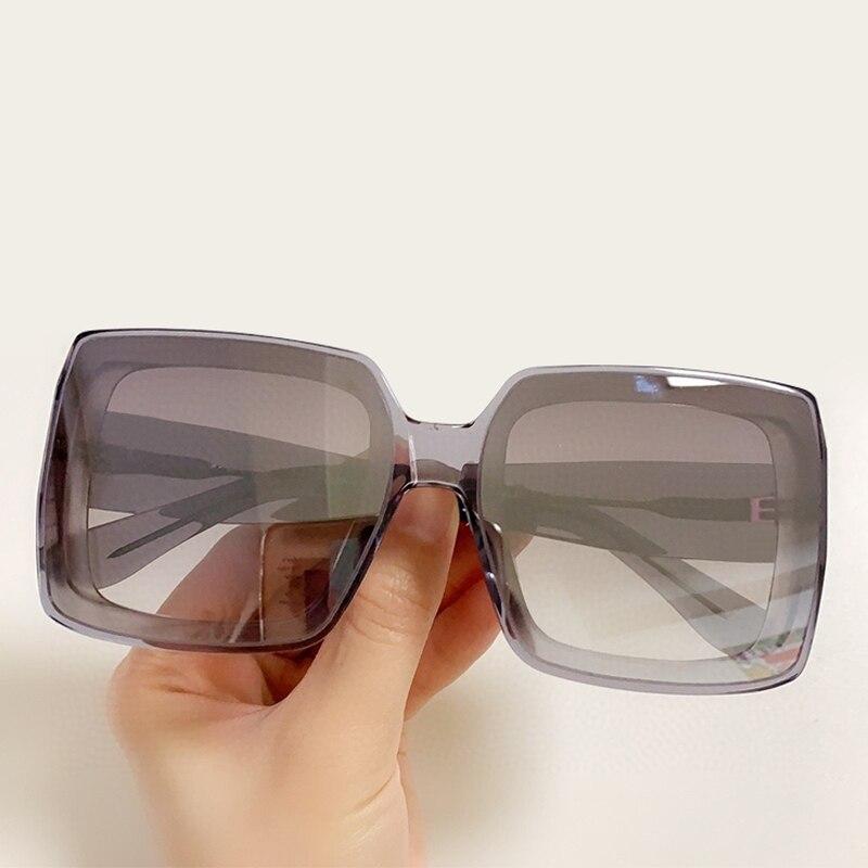 Black Big Square Sunglasses Women Luxury Brand Vintage Oversized Big Sun Glasses Ladies UV400 Goggle Acetate Shades 2020 New