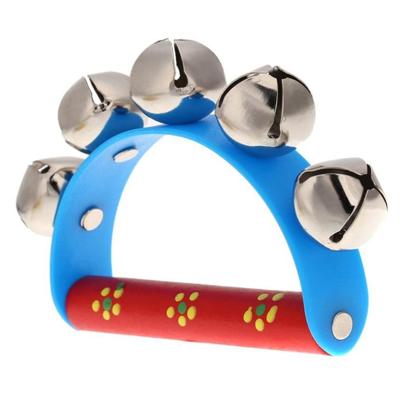 Top-Musical Toy For KTV Kids Little Hand Held Tambourine Bell Metal Jingles Ball
