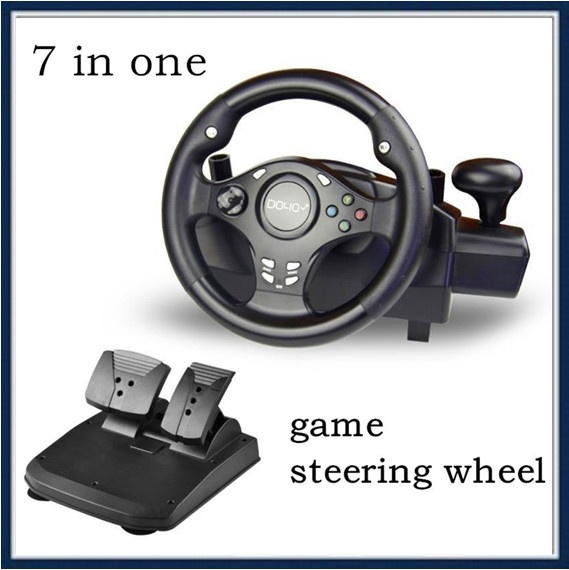 ITSYH Professional Game Steering Wheel 7 in 1 for Car Racing Game PC/PS3/4/xbox 360 one/switch A1910-017 image