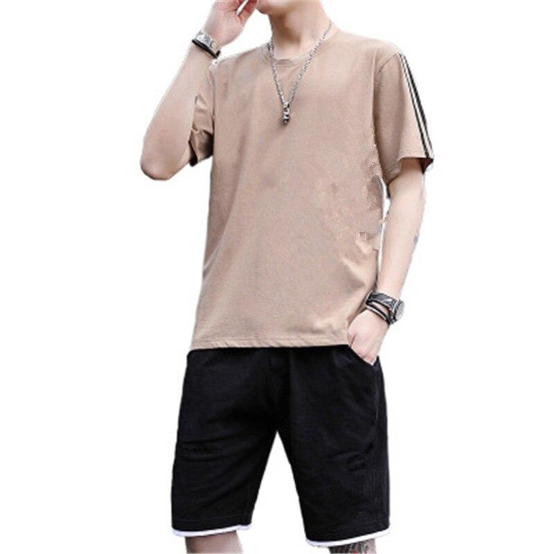 2 Pieces Fashion Casual Mens Sets Male Sweatshirt Pants Summer Men's T Shirt Shorts Casual Suits Sportswear Mens Clothing