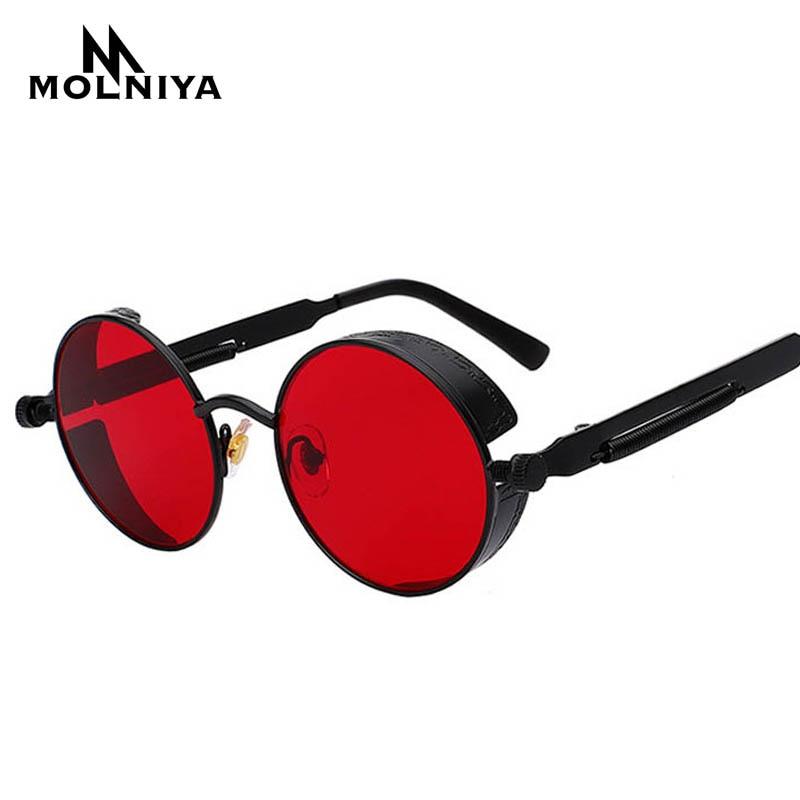 Cheap Round Metal Sunglasses Steampunk Ultra low price Men Women Fashion Glasses Brand Designer Retro Vintage Sunglasses UV400