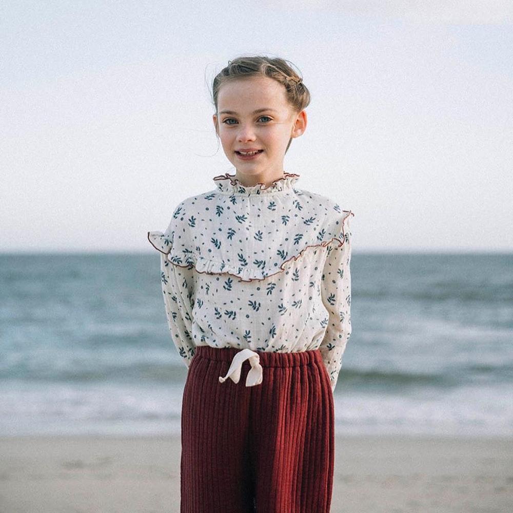 Kids T-shirt Liilu Brand Tops Baby Girls Shirts Long Sleeve Children Linen Boys Clothes Girl Tees 2020 New Autumn Thanksgiving 2