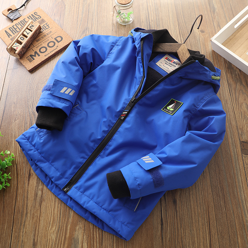 Baby Boys Winter Jacket Kids Coat Boy Hooded Cotton-padded Christmas Warm Jacket Toddler Boy Clothes 3-12 Years