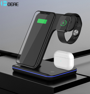 Image 1 - Qi 15W Wireless Charger Stand 3 in 1 Fast Charging Dock Station for AirPods Pro Apple Watch 5 iWatch iPhone 11 XS XR X 8 Samsung