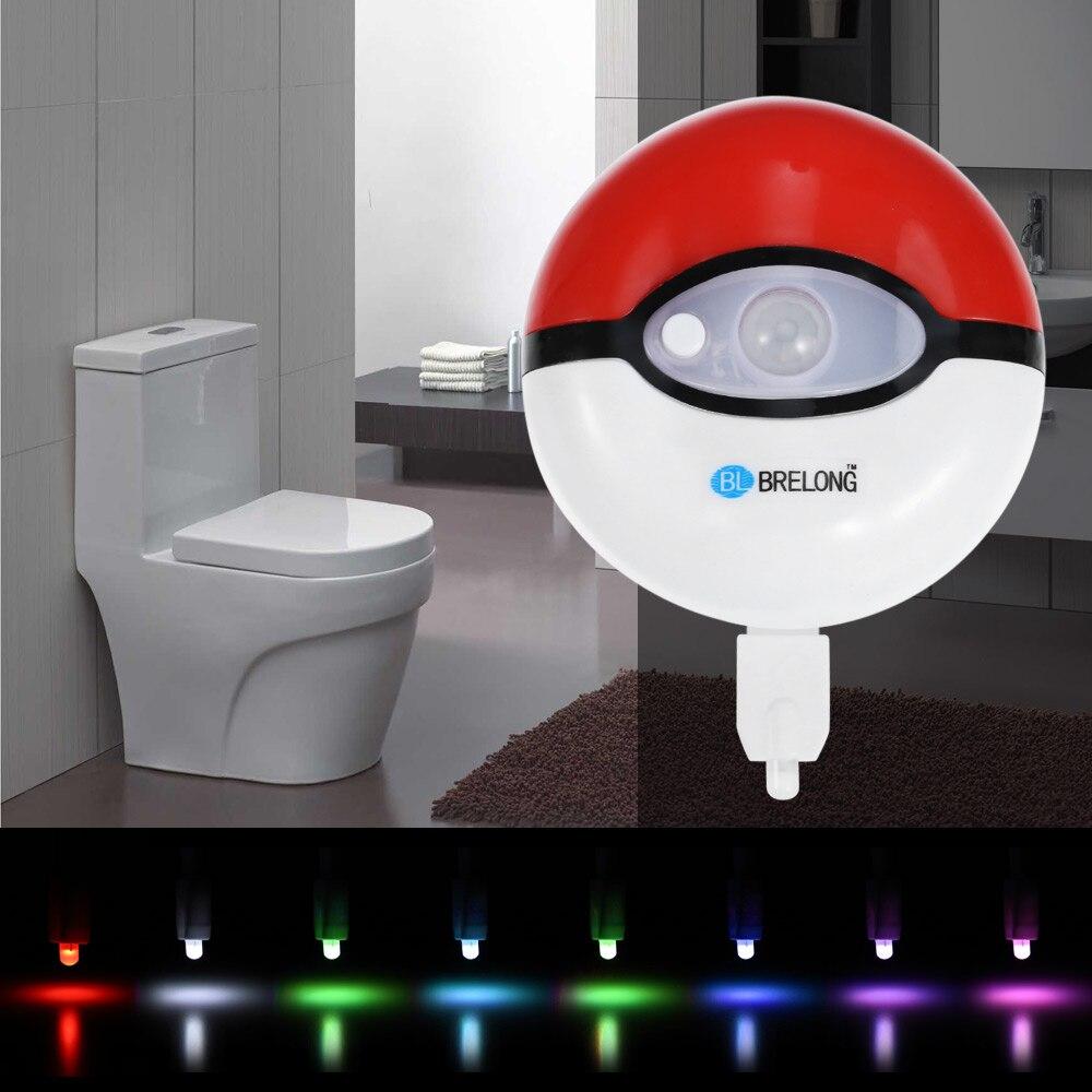 LED Toilet Light PIR Motion Sensor Night Lamp 8 Colors Backlight WC Toilet Bowl Seat Bathroom Night Light For Children