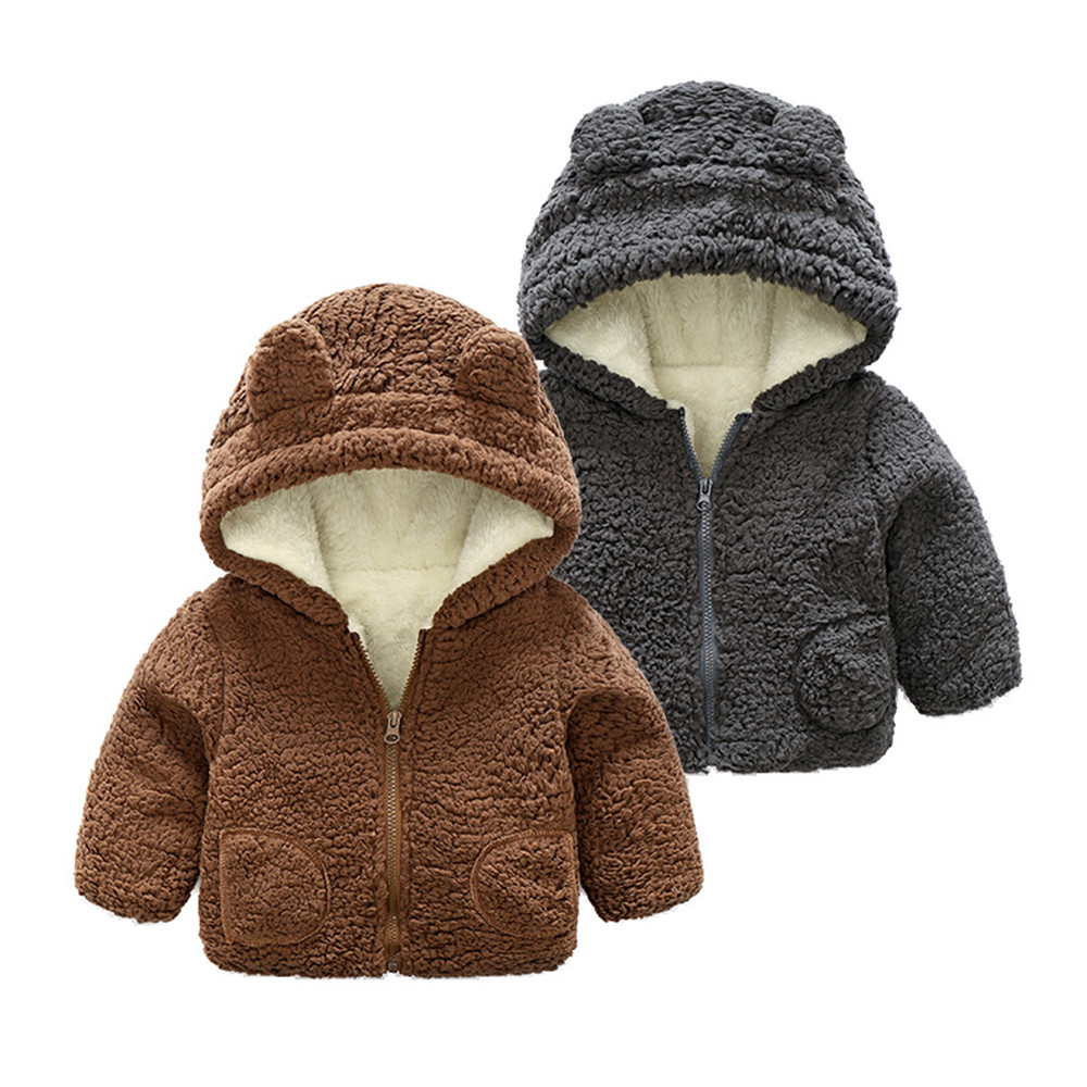 Bear ears baby jacket
