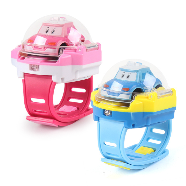 Children's Toys RC Mini Car Cartoon Gravity Sensing Remote Control Toy Car With Children's Watch Kid Toy For Children Gift