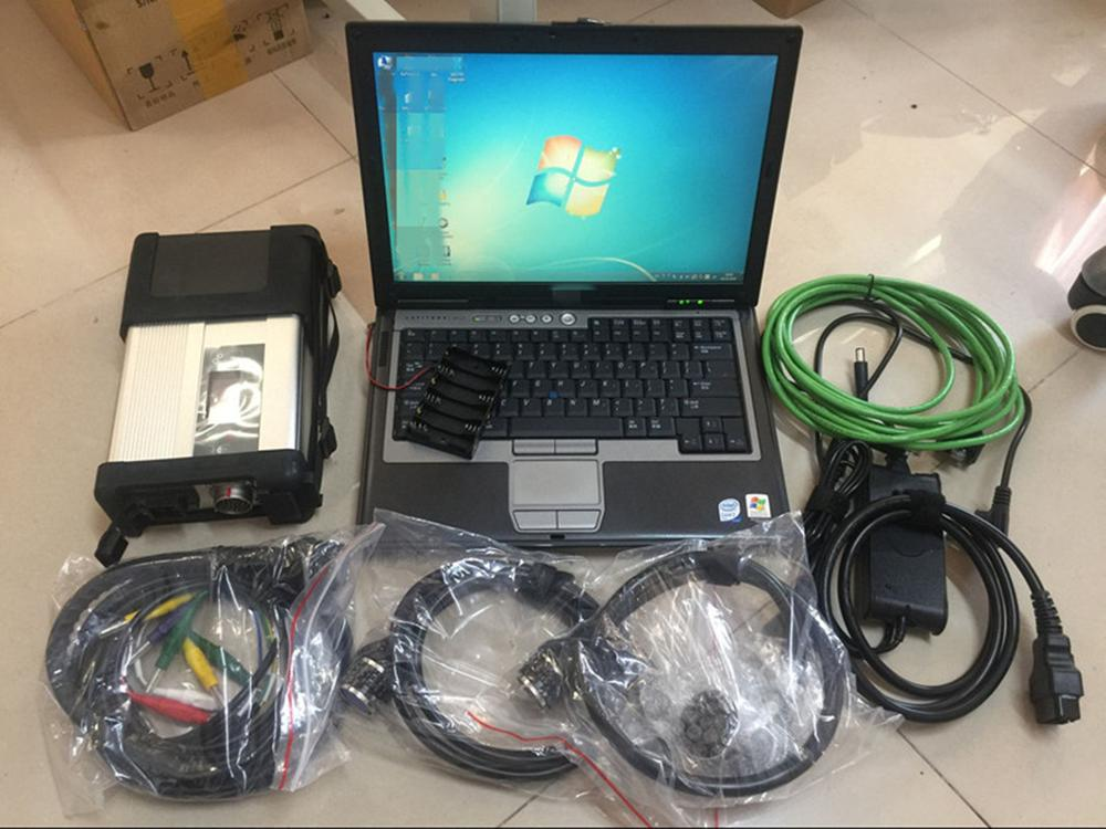 MB Star C5 SD Connect C5 With Software V09.2019 In 320GB HDD Used Laptop D630 Auto Star Diagnosis Tools For Mercedes Scanner