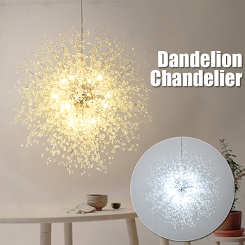 LED Dandelion Chandeliers Lighting Hanging Lamp Firework Pendant Ceiling Light for Home Bedroom Decor