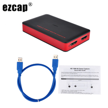 Ezcap 1080P 60fps Full HD Video Recorder HDMI to USB 3.0 Capture Card BOX For Windows Mac Phone Game Support PC Live Streaming