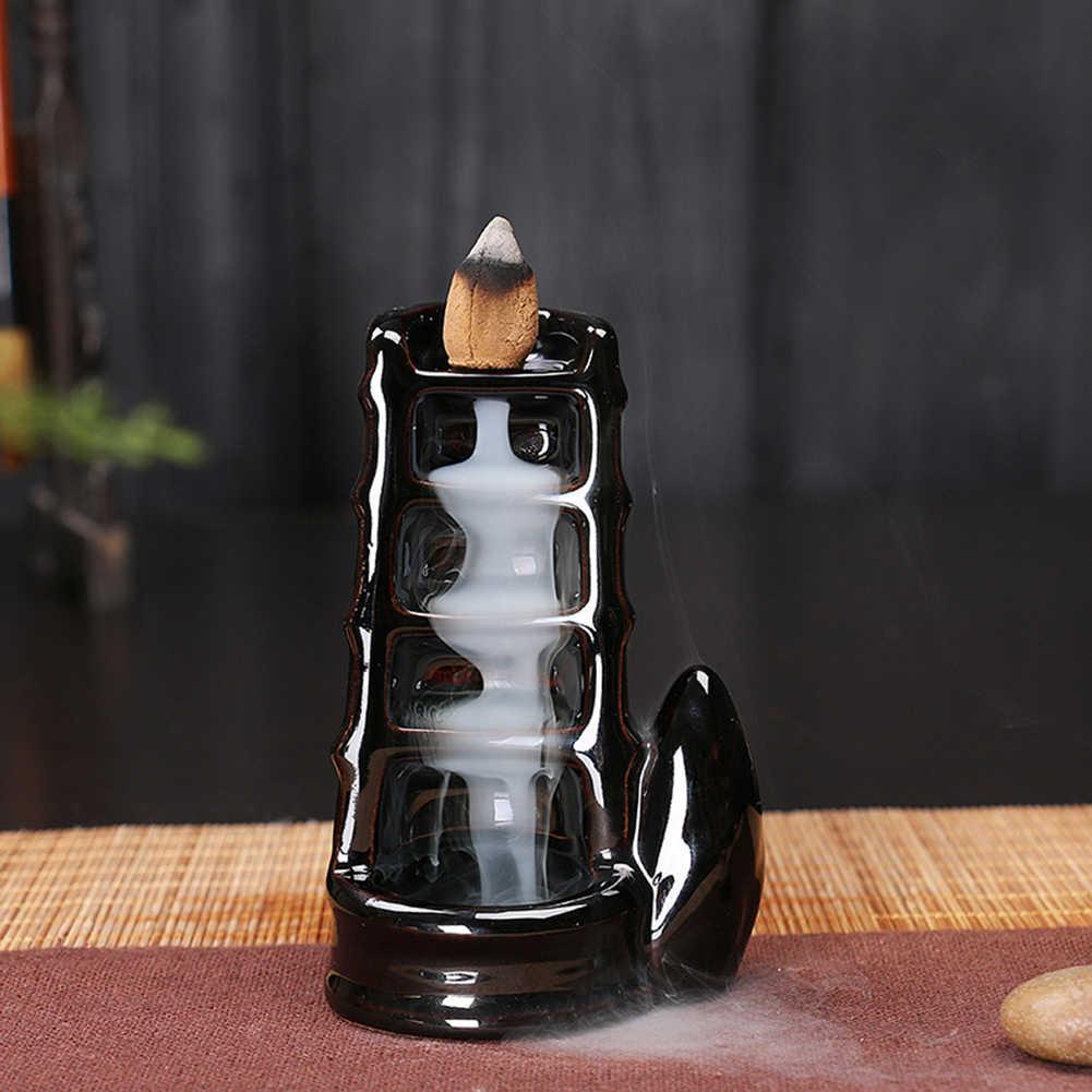 السيراميك شلال ارتداد البخور الشعلات حامل مبخرة الناشر ديكور المنزل