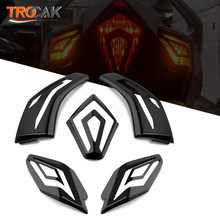 NEW for Yamaha T-MAX TMAX 530 2012-2013 2014 2015 2016 Turn Signal Light Cover Tail Shell Caps Black