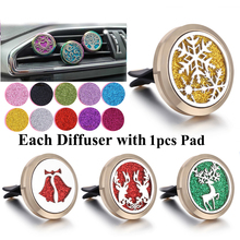Gold Aromatherapy Diffuser Car Perfume Essential Oil Clip Christmas Tree Snowflake Lockets Gifts