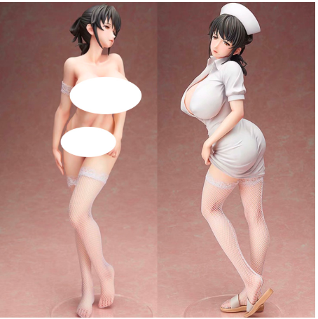 28cm Hospital For Death Mami Akabane Nurses Action Figure Anime Sexy Girls 1/4 PVC Collection Model Toy Figurine For Adult Gifts