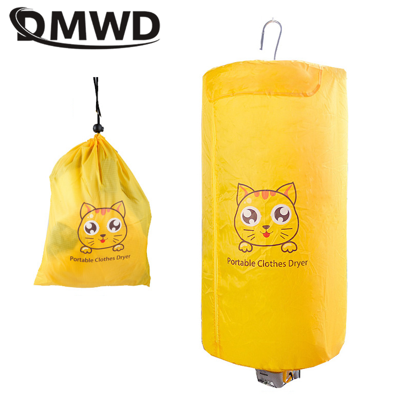 DMWD Electric Mini Clothes Dryer Portable Foldable Hanging Type Quick Dryer Device 220V 380W Stainless Steel Rack Collapsible
