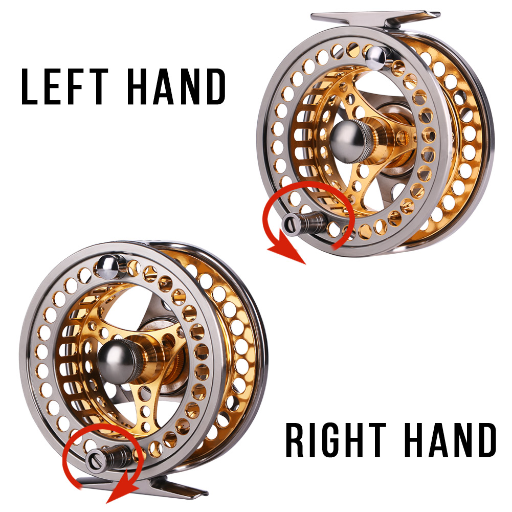 Sougayilang Large Arbor Fly Fishing Reel 2+1 BB High Die Casting Aluminium Alloy Spool Fly Reels Fishing Tackle 13