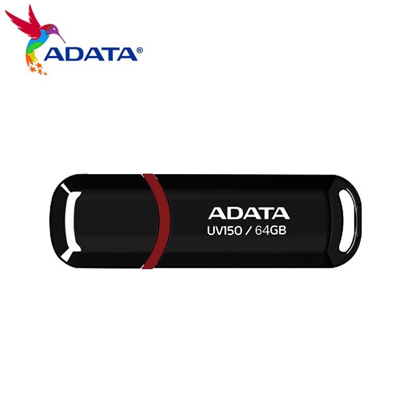 Оригинальный ADATA USB флэш-накопитель USB 3,2 UV150 16 Гб оперативной памяти, 32 Гб встроенной памяти, 64 ГБ 128 высокое Скорость мини Портативный Флешка-...