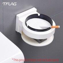 Orijinal Tflag yenilik yaratıcı akıllı ev tembel hediye günlük ihtiyaçlar pratik mağaza duvara monte küllük dayanıklı
