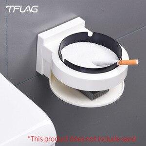 Image 1 - Oryginalny Tflag nowość kreatywny inteligentny dom leniwy prezent codzienne potrzeby praktyczny dom handlowy popielniczka naścienna trwała