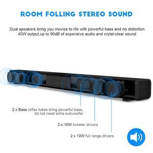 Image 3 - 40W HiFi kablosuz bluetooth Soundbar hoparlör 3D Surround Stereo Subwoofer TV ev sineması sistemi ses çubuğu film