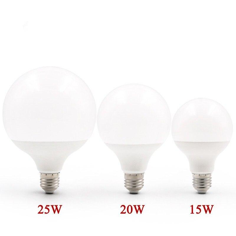 Энергосберегающая светодиодная лампа E27 220 В 15 Вт 20 Вт 25 Вт SMD 2835SMD bombillas Led G95