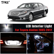 12Pcs Car Accessories White Interior LED Light Bulbs Package Kit For 2005 2012 Toyota Avalon Map Dome Trunk License Plate Light