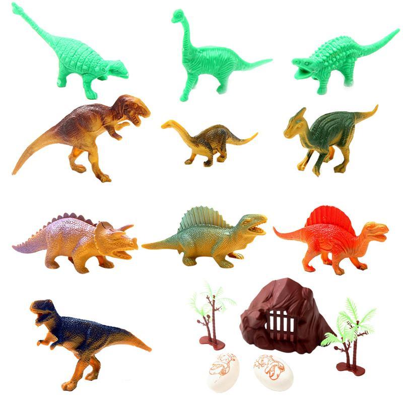 15pcs Assorted Dinosaur Toys Educational Props Mini Dinosaur World Lifelike Animal Ornaments For Students Boys Children