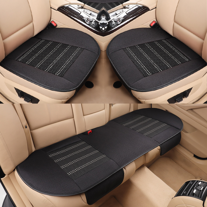 Flax car seat cover ice silk cushion mat pad for Volkswagen PASSAT b5, b6, b7,b8 TIGUAN Polo Gran Lavida CROSS Lamando
