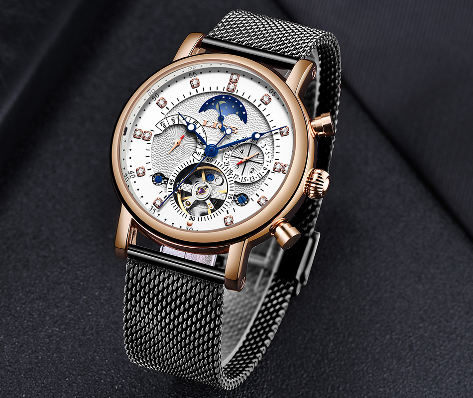 H47dc4cb7bd1540979297947a6fd73731i LIGE Gift Mens Watches Brand Luxury Fashion Tourbillon Automatic Mechanical Watch Men Stainless Steel watch Relogio Masculino