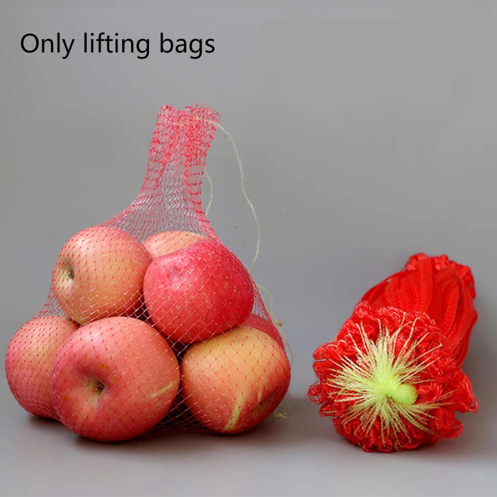 100Pcs Portable Mesh Bag Net Food Packaging Gardening Elastic Practical Reusable