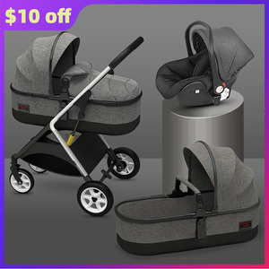 Solid Color Baby Stroller with