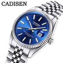CADISEN męski zegarek mechaniczny Top marka luksusowy zegarek automatyczny biznes wodoodporny zegarek ze stali nierdzewnej mężczyźni relogio masculino tanie tanio 5Bar CN (pochodzenie) Klamerka z zapięciem BIZNESOWY Mechaniczna nakręcana wskazówka Samoczynny naciąg 21cm STAINLESS STEEL
