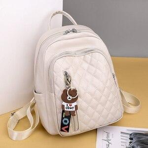 Женский рюкзак из мягкой искусственной кожи, осень 2020, новая молодежная женская школьная сумка, тренд, многофункциональная дорожная сумка, ...