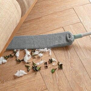 Прикроватная щетка для пыли, швабра с длинной ручкой, домашняя кровать, нижний зазор, чистый мех, ворс, подметальная пыльная Волшебная тряпк...