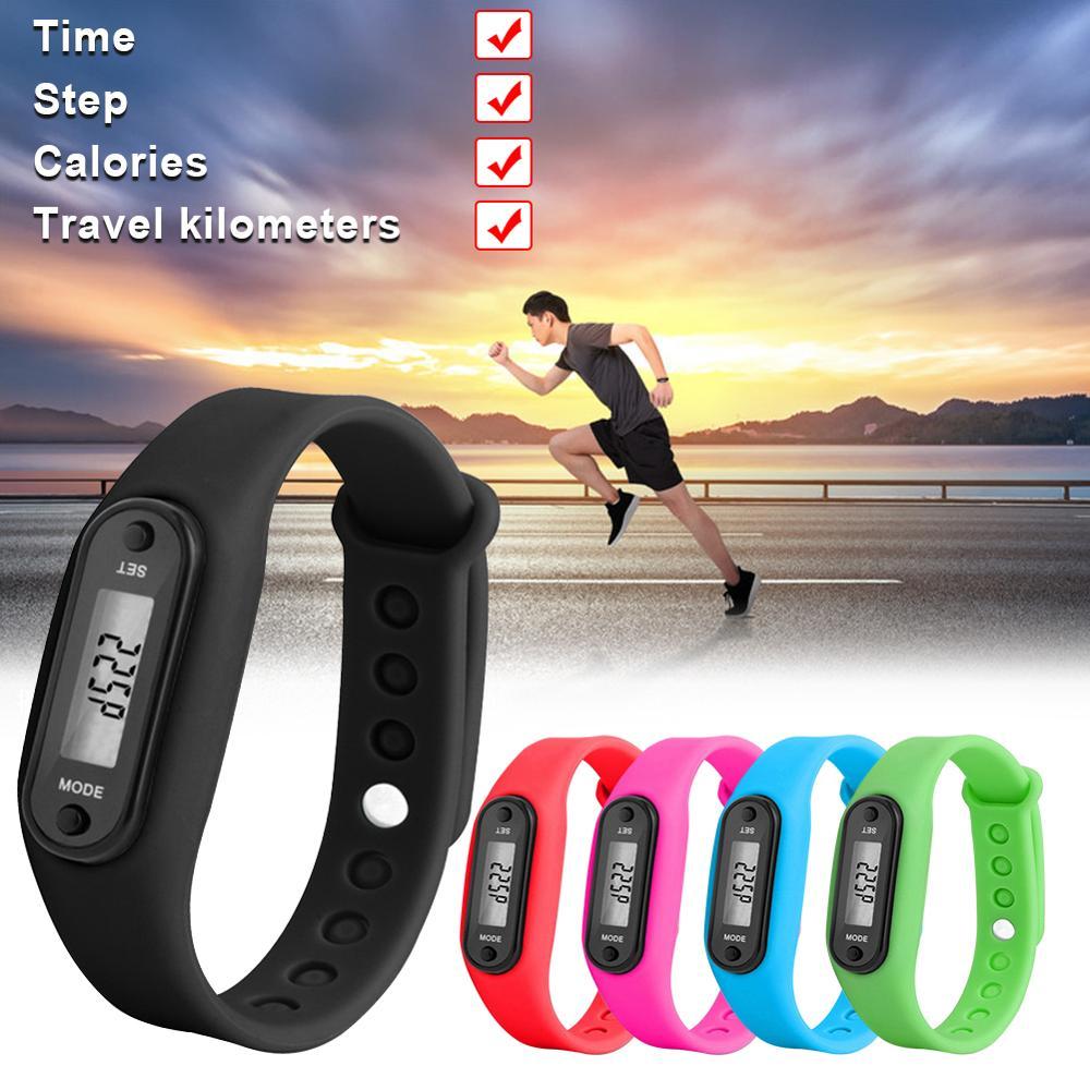 2019 Sport Smart Wrist Watch Bracelet Display Fitness Gauge Step Tracker Digital LCD Pedometer Run Step Walking Calorie Counter