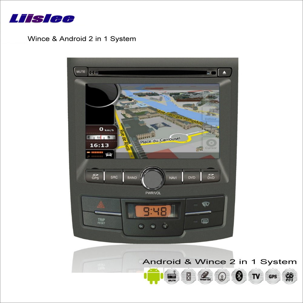 Liislee Car Android Multimedia Stereo For SsangYong Korando / Actyon 2010~2013 Radio DVD Player GPS Nav Navigation Audio Video image