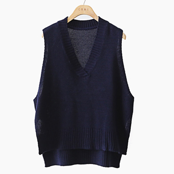 2020 New Sweater vest women's spring and autumn retro simple Slouchy loose wool Pullover vest sleeveless thickened vest loose plaid vest vest women spring and autumn 2019 new small fragrance joker vest outside wearing vest sleeveless jacket vest